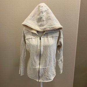 Quicksilver Distressed Raw Edge Hoodie Jacket